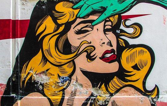 Graffiti, Femme Fatale, Woman, Glamour, Pop Art