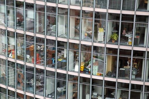 Office, Office Complex, Glass Facade, Building, City