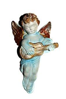 The Figurine, Gold, Guitar, Angel