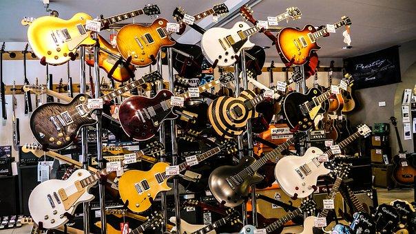 Guitar, Rock, Electrical, Store