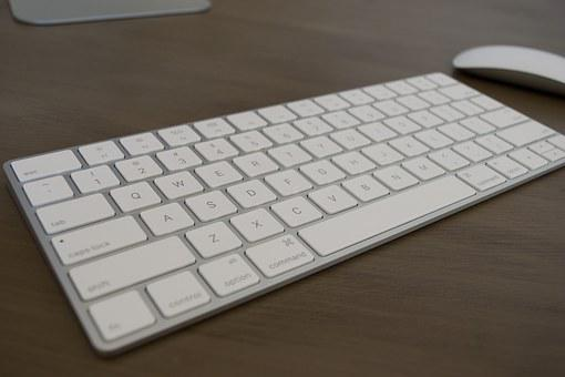 Keyboard, Mouse, Apple, Computer, Business, Office