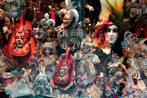 Masks, Disguise, Venice, Masquerade, Carnival, Party