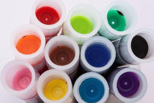 Colorful, Macro, Cartridges, Tusche Indian Ink, Plastic