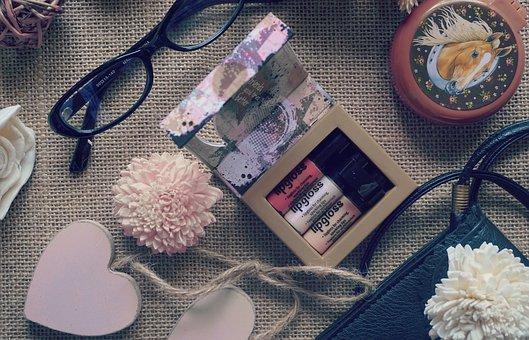 Glasess, Mack Up, Purse, Flower, Fashion, Lifestyle