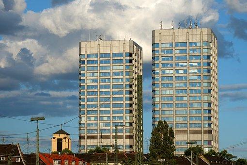 Twin Towers, Mainz, Landmark, Skyline, City