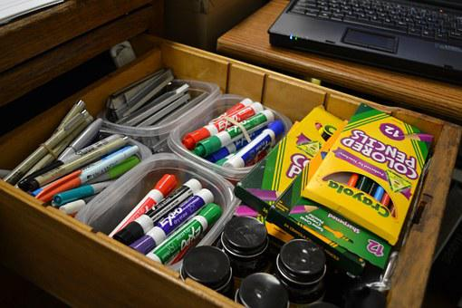 Felt Pens, Drawer, Supplies, Art, Classroom, Drawing