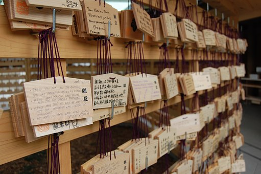 Meiji Jingu Shrine, Tags, Wish Card, Signpost, Card