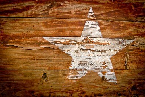 Wood, Grain, Star, Paint, Grained, Texture