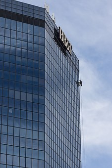 Skyscraper, Window Cleaner, Facade, Window Cleaning