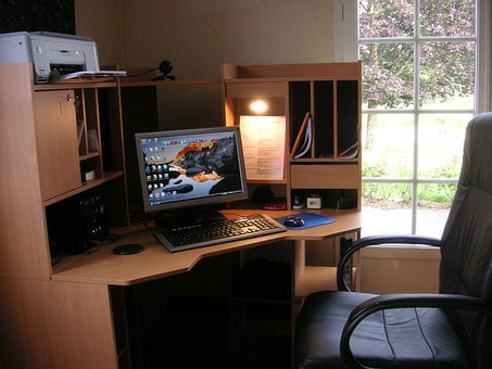 Work Space, Home Office, Office, Space, Work, Desk