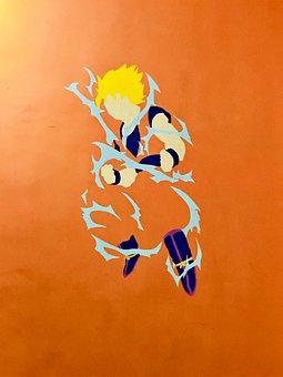 Wall, Painting, Design, Goku
