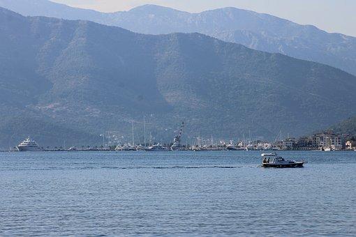 Montenegro, Tivat, The Adriatic Sea, Bay