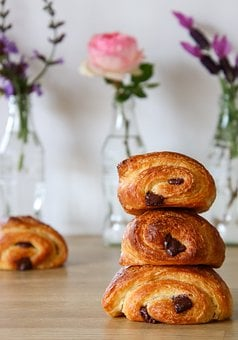 Chocolate Bread, Breakfast, Croissant, Pain Au Chocolat
