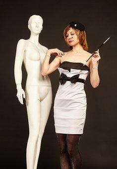 Mannequin, Woman, Veil, Retro, Vintage, Dress, Fashion