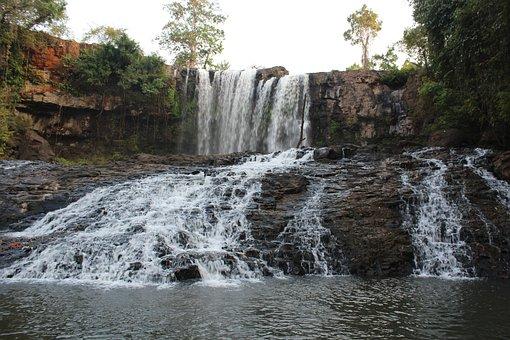 Bosra, Waterfall, Water, River, Nature, Stream