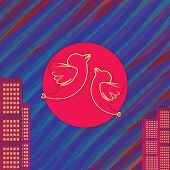 Abstract Bird Shape, New Topstar2020, For Lovebirds