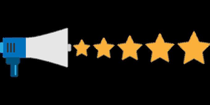 Feedback, Stars, Rating, Megaphone, Service, Quality