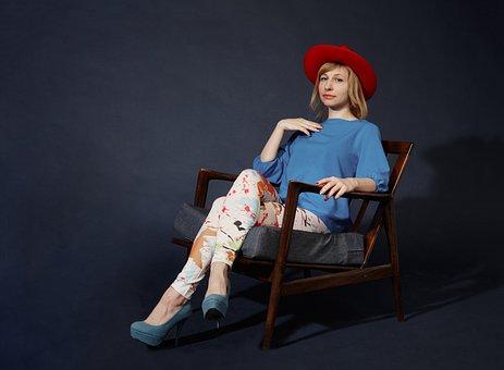 Portrait, Girl, Woman, Bright Colors, Paint, Blots
