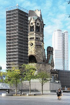 Kaiser-wilhelm Memorial Church, Ruin, Berlin, World War