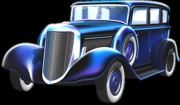 Gangster Car, Old Car, Automobile