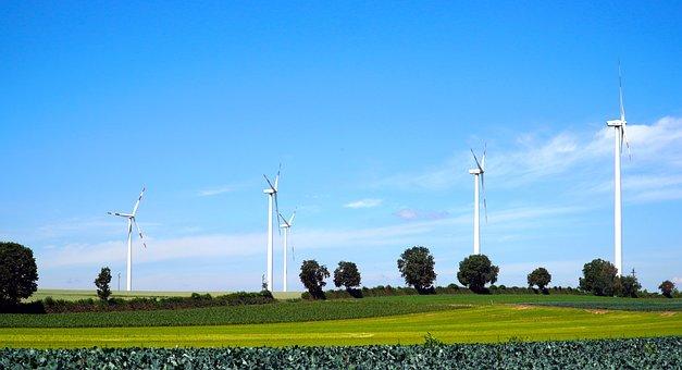 Windräder, Wind Power, Wind Energy, Sky