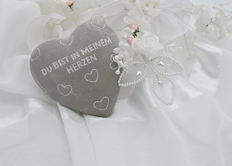 Wedding, Heart, Marry, Love, Bridal Jewelry, Tulle