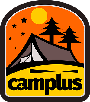 Camp, Camping, Explore, Logo, Summer