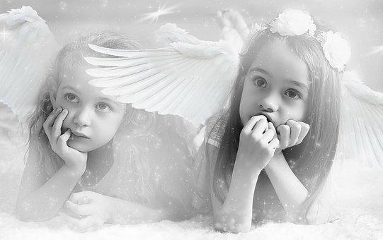 Portrait, Children, Fantasy, Angel