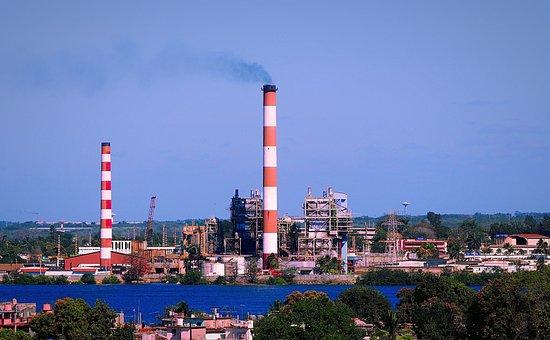 Cuba, Cienfuegos, Industry, Chimney