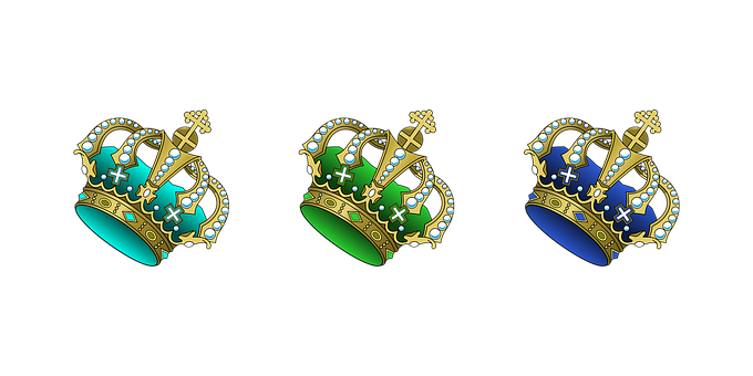 Crown, King, Royal, Vintage, Retro, Jewelry, Gold