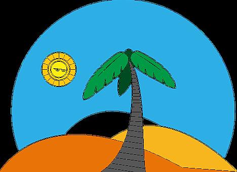 Palm, Palm Tree, Beach, Desert, Sun, Tropical, Summer