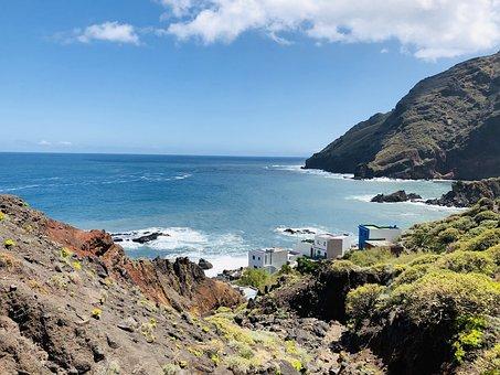 Tenerife, Spain, Sea, Landscape, Teide, Nature, Sky