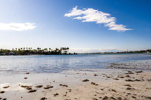 Beach, Mallorca, Sun, Sea, Sand, Clouds, Sky