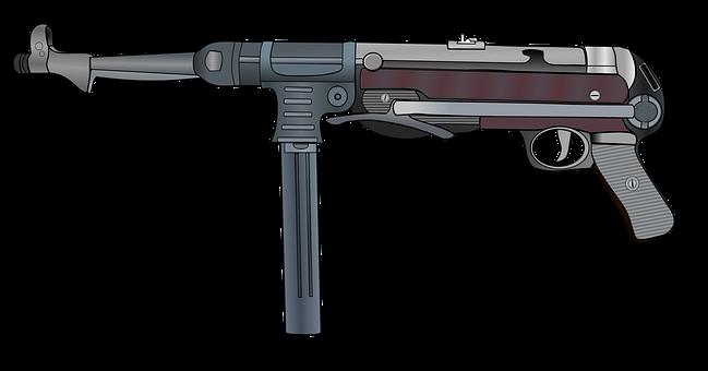 Mp40, Machine Gun, Submachine Gun