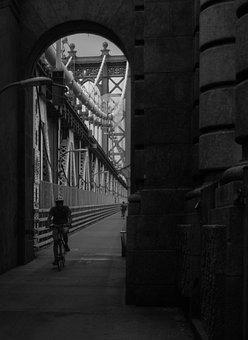 Manhattan Bridge, Art, Black And White