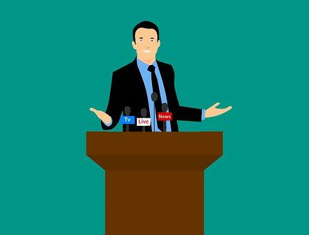 Public Speaking, Speaker, Man