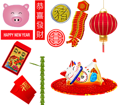 Chinese New Year, Year Of The Pig, Firecrackers