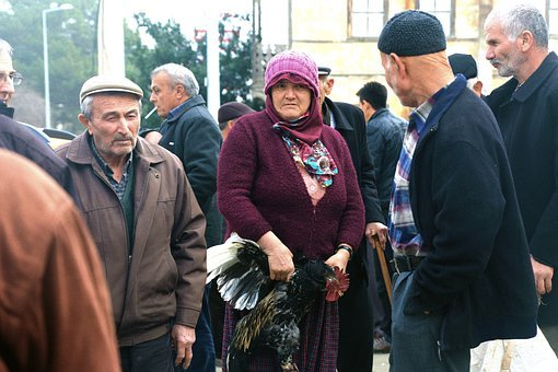Rooster, Female, Elderly, Market, Chicken, Animal, Farm