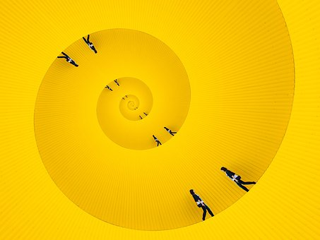 Circle, Snail, Yellow, Whirlpool, Company, Boredom