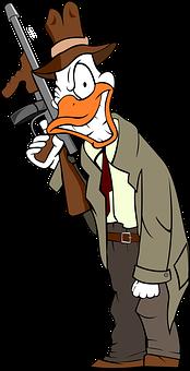 Beak, Cartoon, Crime, Duck, Fbi