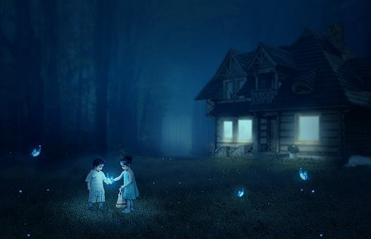 Bungalow, Baby, Two Babies, Animals, Fireflies, Nature