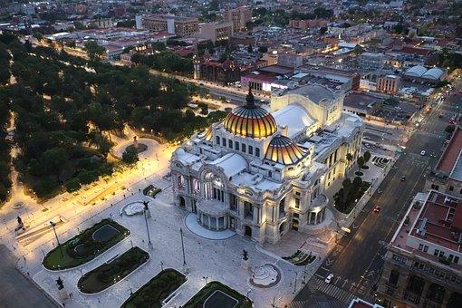 Palace, Fine Arts, Architecture, Mexico, Cdmx, City