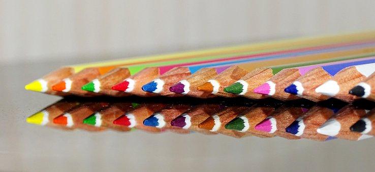 Colored Pencils, Pens, School, Paint, Colorful