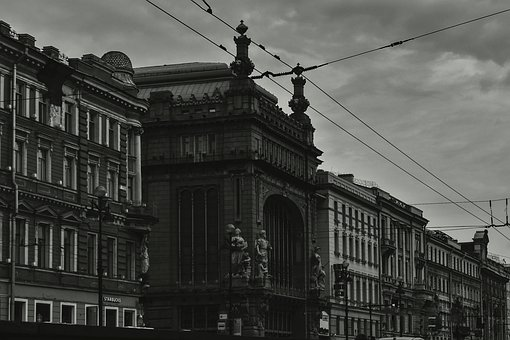 Black-white, Place, Sight, Saint-petersburg, Spb