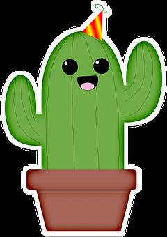 Cactus, Cute, Kawaii, Party, Mexico, Desert, Succulent