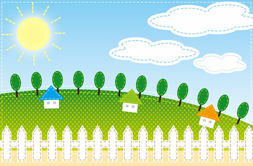 Child Digital Paper, Trees, Landscape, Home, Cabin