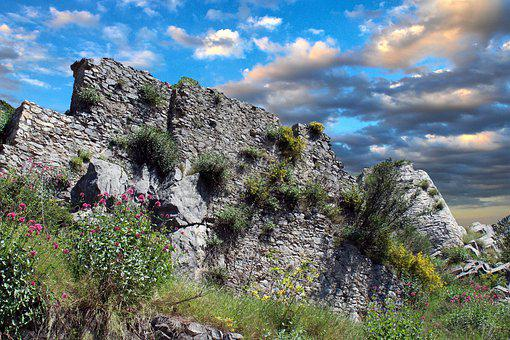 Roccagloriosa, Cilento, National Park, Italy, Rocks