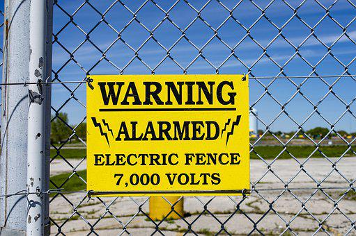 Fence, Electric Fence, High Voltage, Alarmed, Voltage