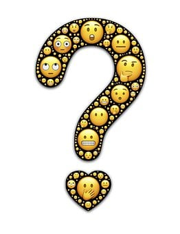Question, Heart, Emoji, Emoticons, Faces, Expressions