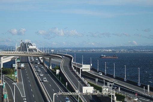 High Speed Road, Sea, Tokyo, Travel